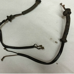 turn signal, wire harness, fixture connector wires in tubing w/ terminal  ends,